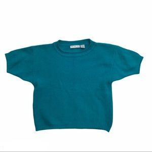 PSC Angora blend cropped short sleeved sweater